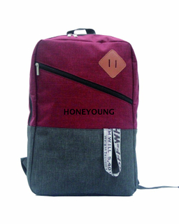 Two Tone in 300D School Bag Outdoor Bag Mixed Color Bag with Designed Webbing