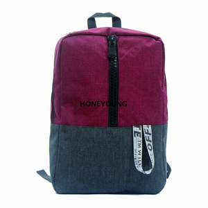 resin zipper outdoor bag mixed color school bag with designed webbing