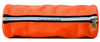 Double Color Zipper Two Side Have Pipings Round Pencil Bag