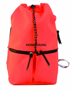2020 High Quality Hiking 290D Drawstring Barrel Backpack