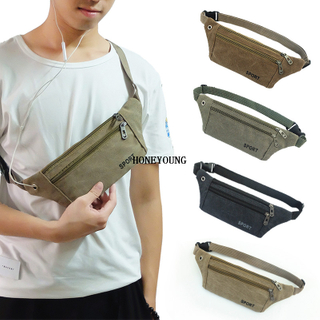hot outdoor sports mens canvas waist bag
