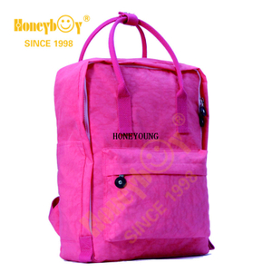 Fashionable Waterproof Fabric Macarone Soft School Backpack