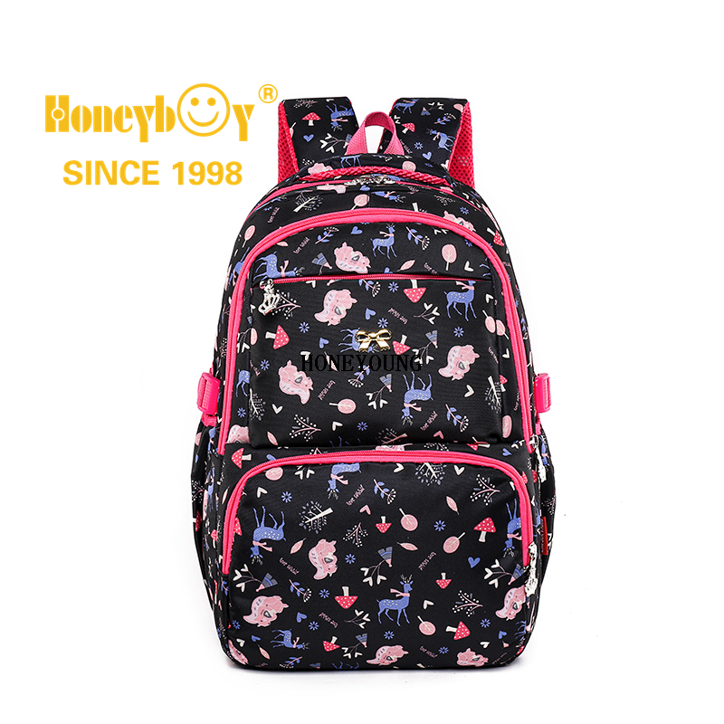 China Large Capacity Fashion Pattern High School Backpack