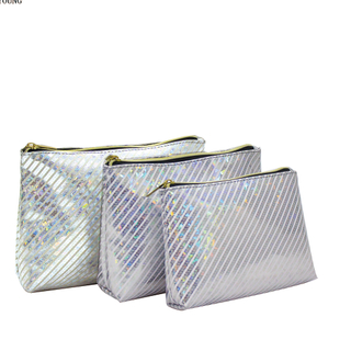 Best Pu Shining Pattern Teenagers Cosmetic Bag HY-M006