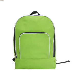 Light Large Capacity Foldable Promotional Backpack with Piping