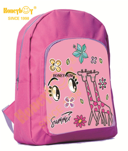 Cute Custom Two Compartments School Children Backpack