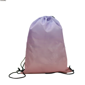 Fashion 210D Polyester Gradient Ramp Drawstring Bag