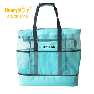 Large Travel Mesh Waterproof Polyester Beach Bag
