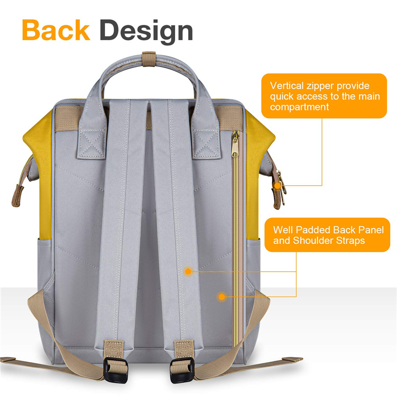 Yellow Fashion Laptop Backpack with Handle OEM