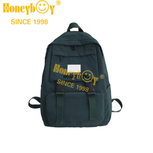 High Quality Cool Outdoor Nylon School Backpack HY-B008