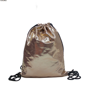 hot sale new style PU drawstring backpack girls backpack