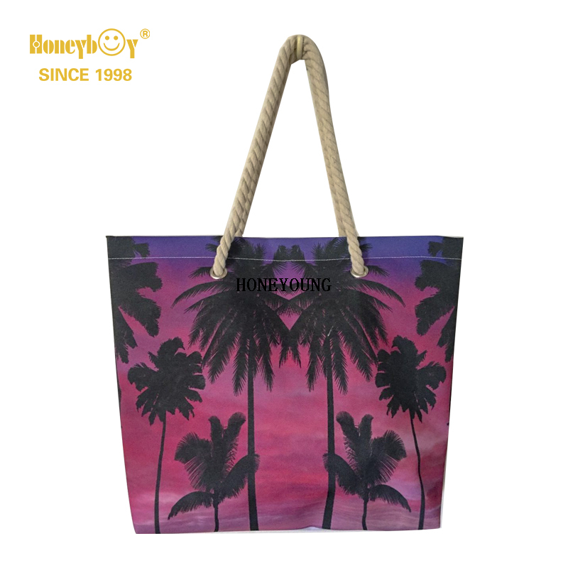 Popular Teenager Girls Coconut Tree Beach Bag HY-H002