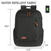 Classic Black Water-repellent Laptop Backpack DIY