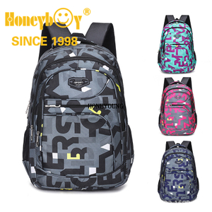 Popular Word Printing Teenagers Sport Comfortable Back School Backpack