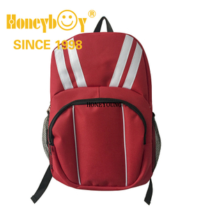 New Style China Factory Polyester Middle School Bag with Piping