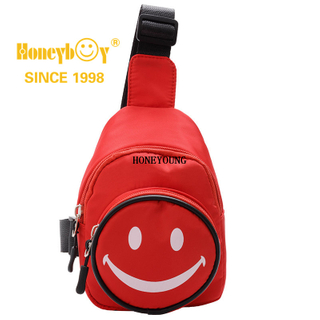 Cute Smile Face Outdoor Children Shoulder School Bag