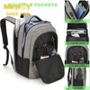 Custom Business Laptop Backpack School Bag with USB and Mesh Pockets