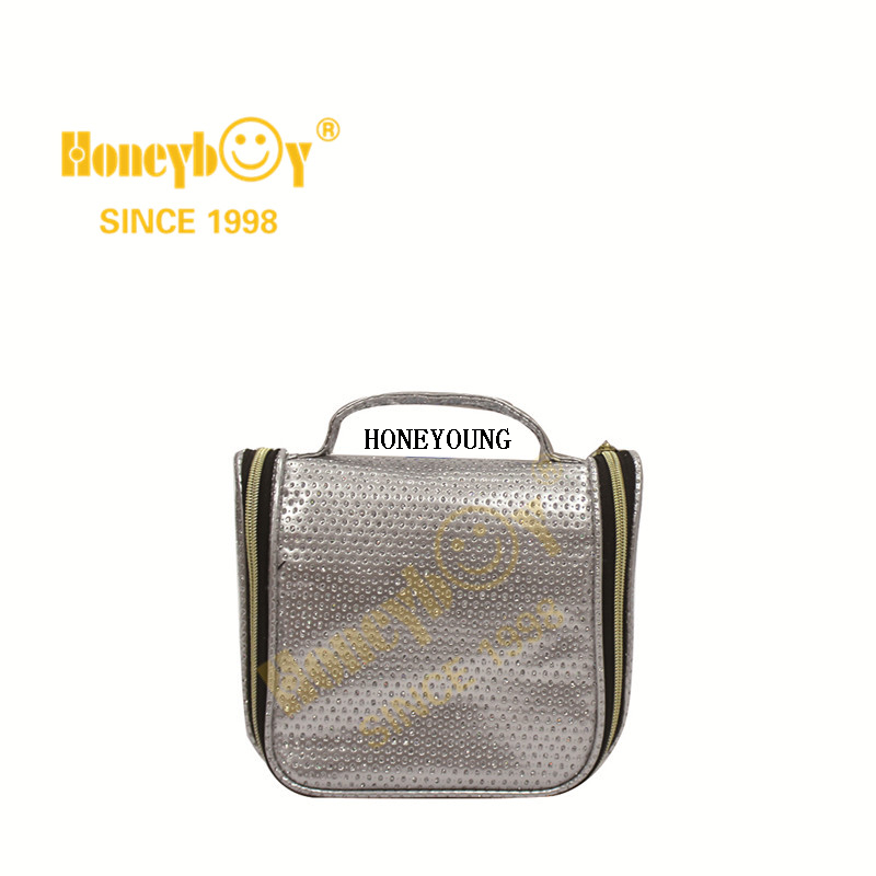Popular Girls Travel Pu Waterproof Cosmetic Bag HY-M003