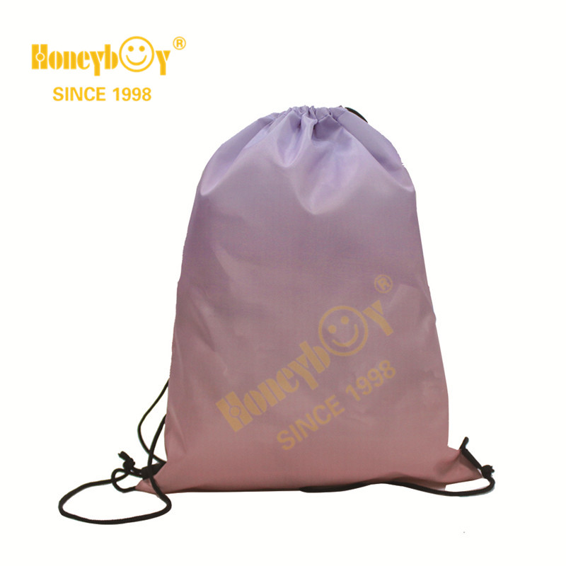 Kids Punching Drawstring Backpack with Gradient Color