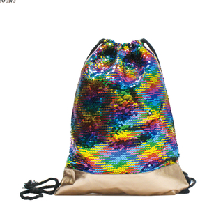 fashion flake drawstring backpack teens backpack